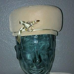 Vintage Gene Doris pillbox hat